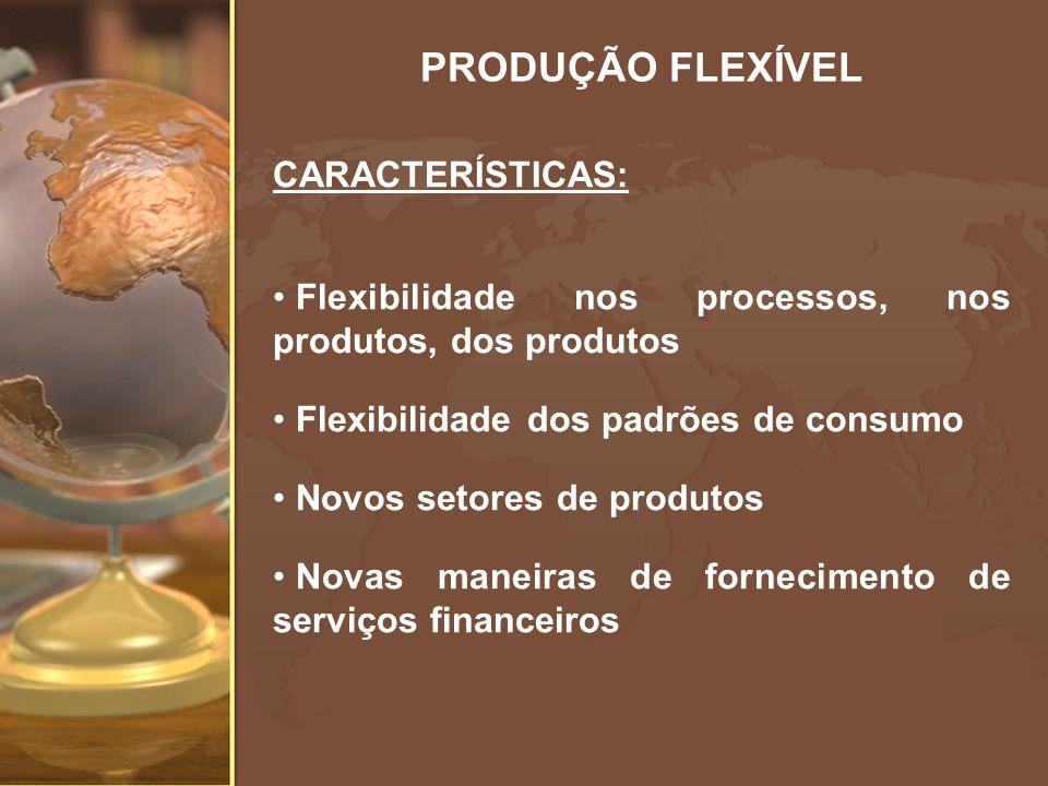 PRODUÇÃO FLEXÍVEL CARACTERÍSTICAS: