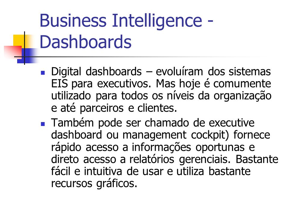 Business Intelligence - Dashboards