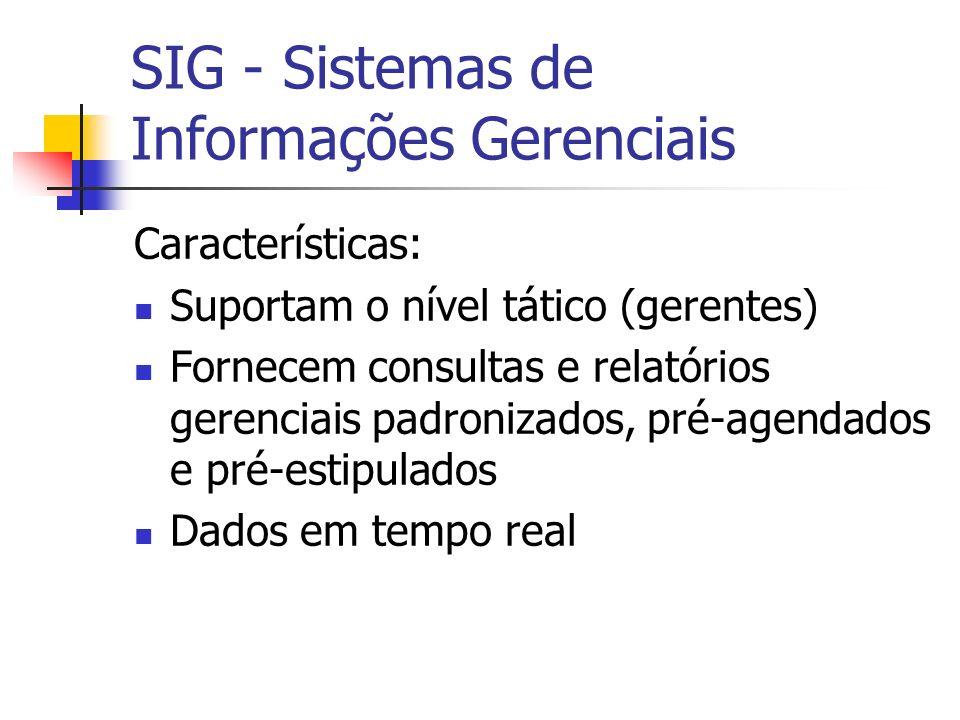 SIG - Sistemas de Informações Gerenciais