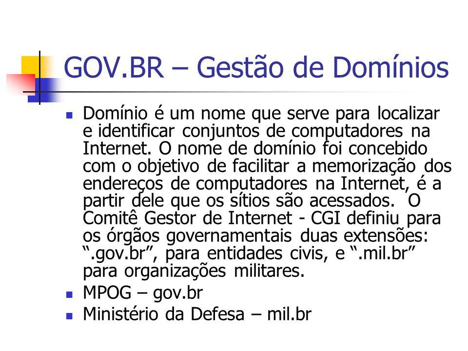 GOV.BR – Gestão de Domínios