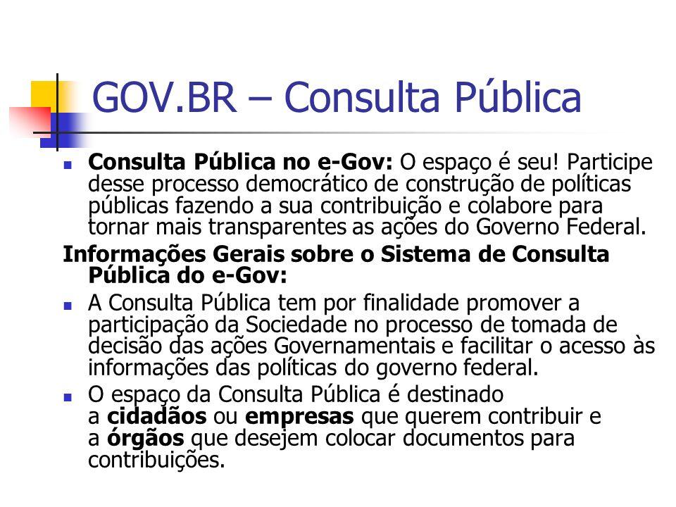GOV.BR – Consulta Pública