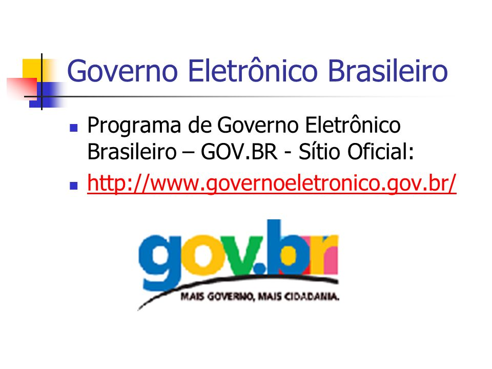 Governo Eletrônico Brasileiro