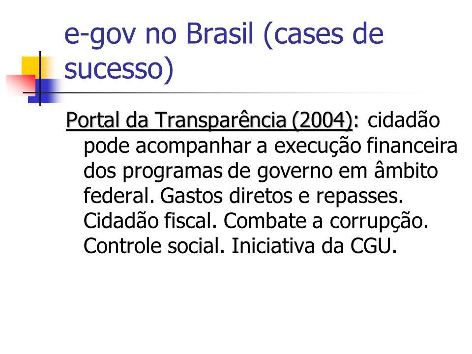 e-gov no Brasil (cases de sucesso)