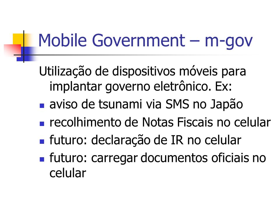 Mobile Government – m-gov