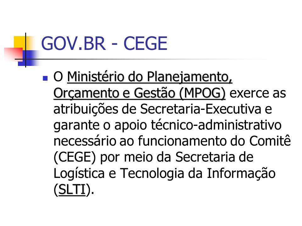 GOV.BR - CEGE