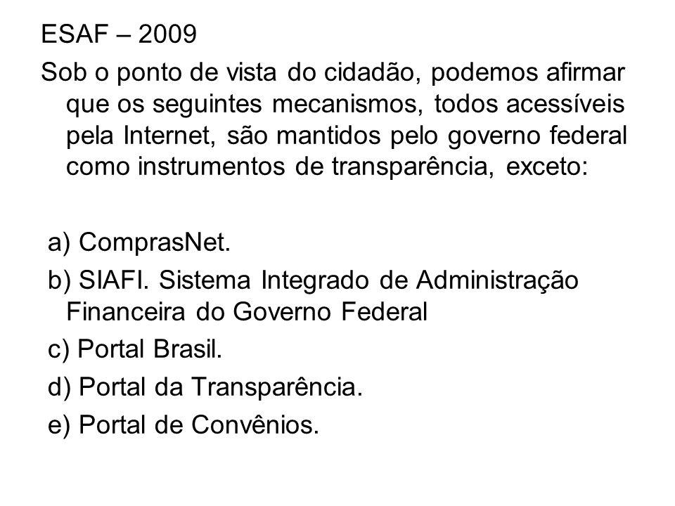 ESAF – 2009