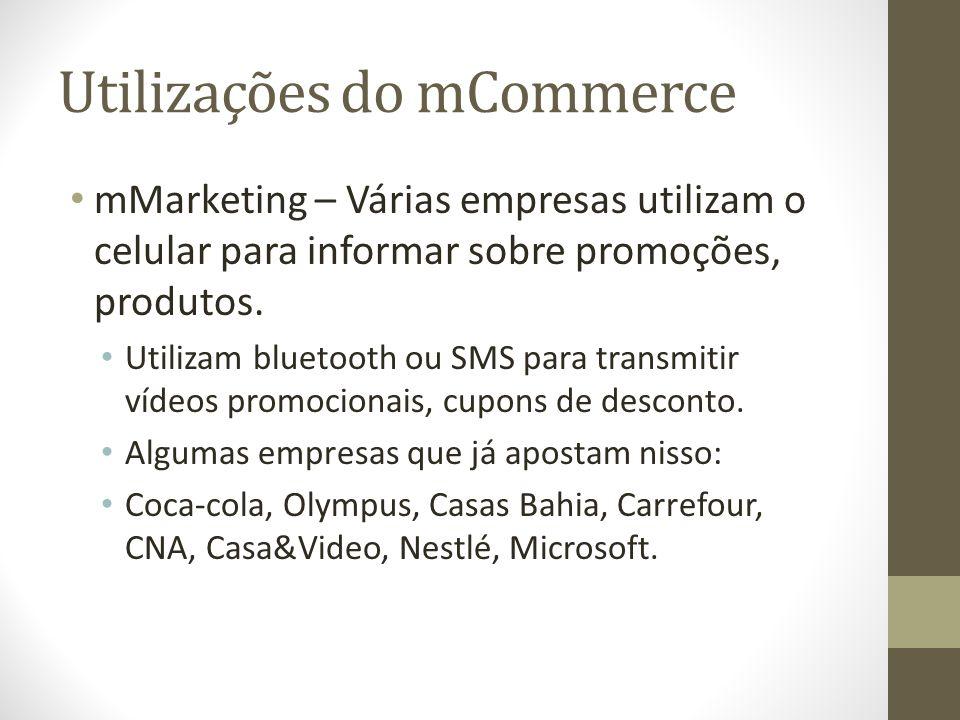 Utilizações do mCommerce