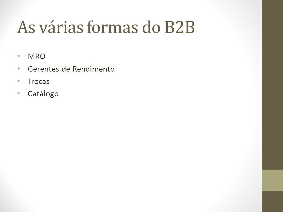 As várias formas do B2B MRO Gerentes de Rendimento Trocas Catálogo