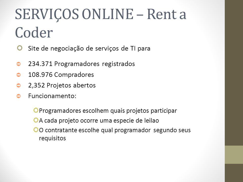 SERVIÇOS ONLINE – Rent a Coder