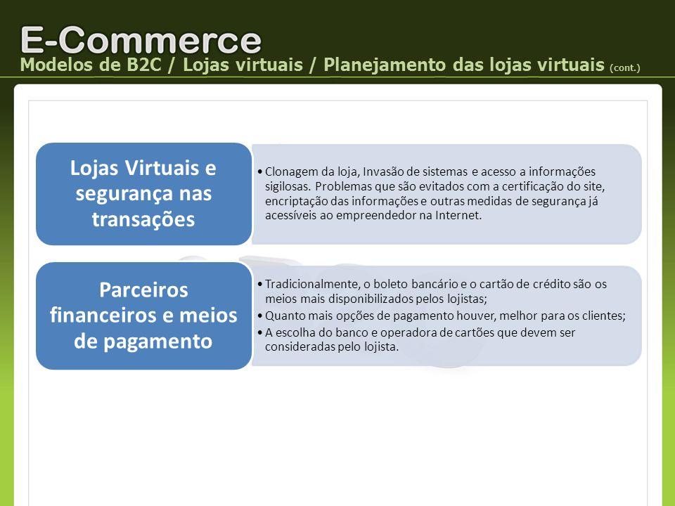 Lojas Virtuais e segurança nas transações