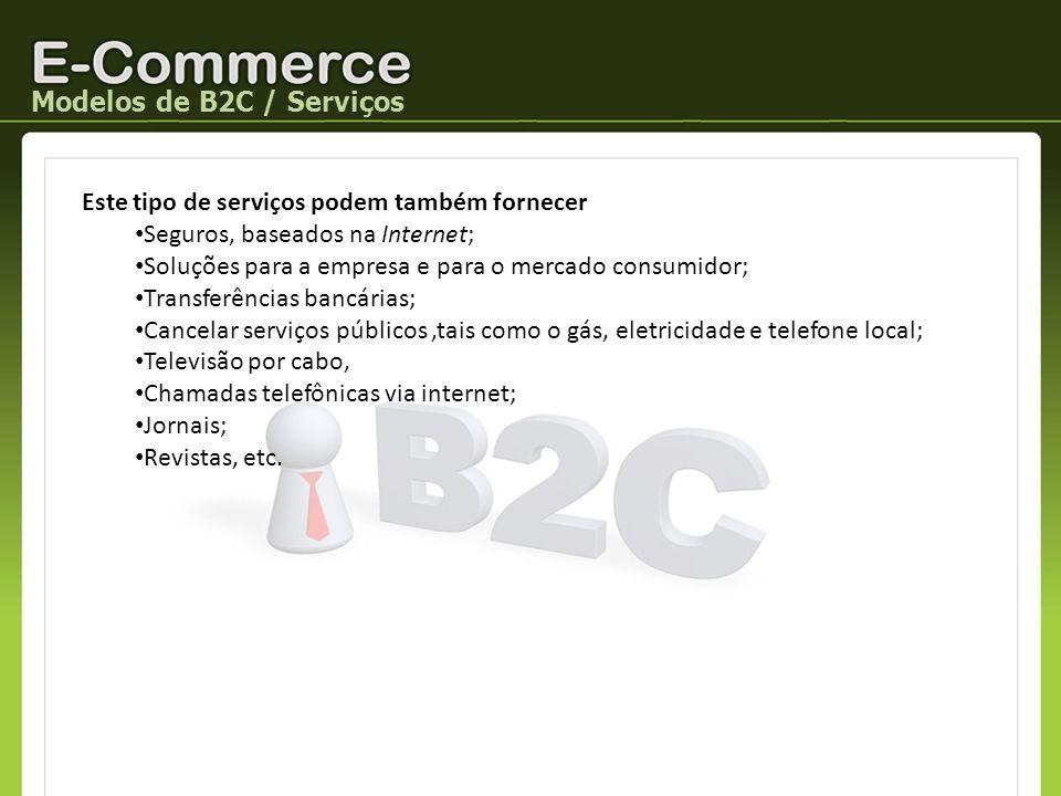 Modelos de B2C / Serviços