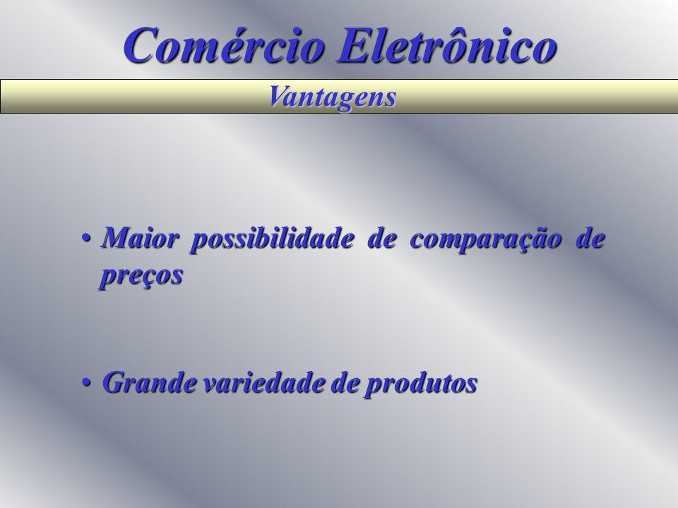 Comércio Eletrônico Vantagens