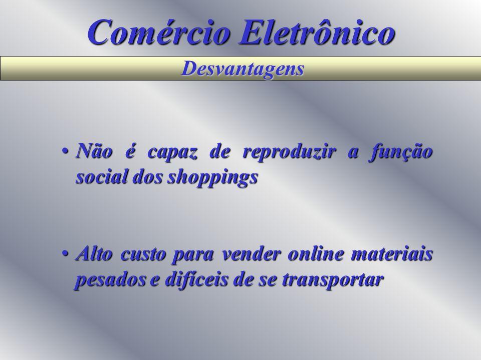 Comércio Eletrônico Desvantagens