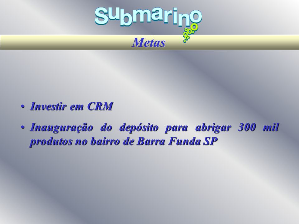 Metas Investir em CRM.