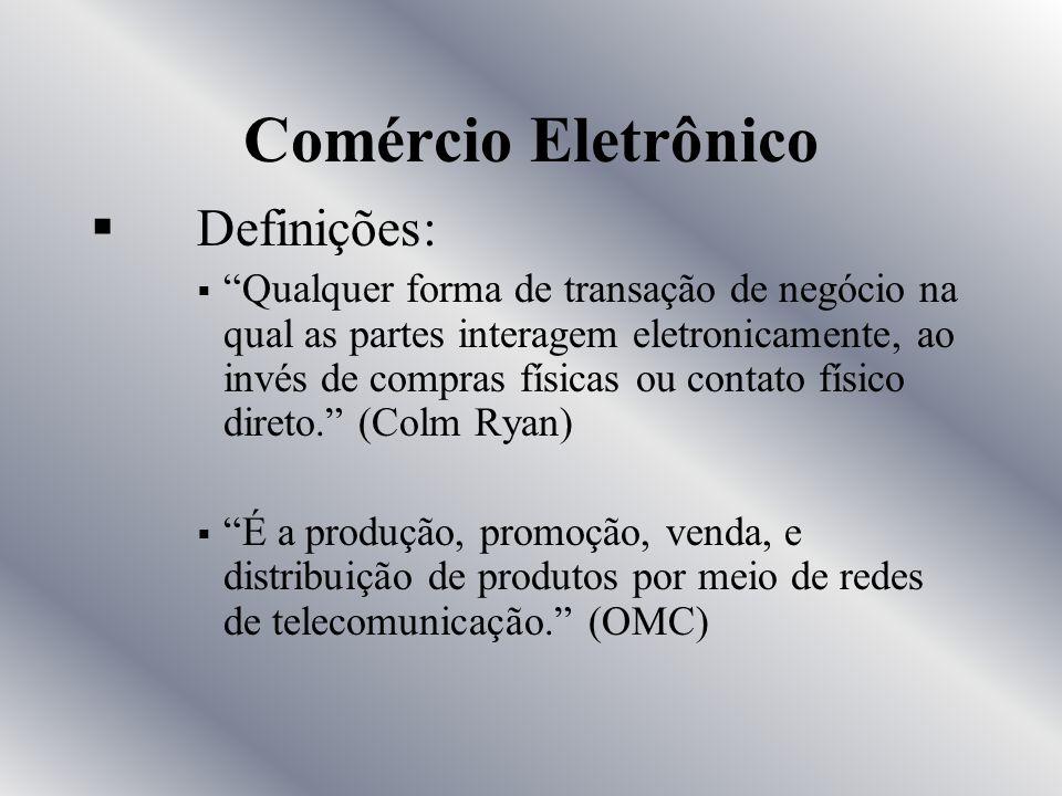 Comércio Eletrônico Definições: