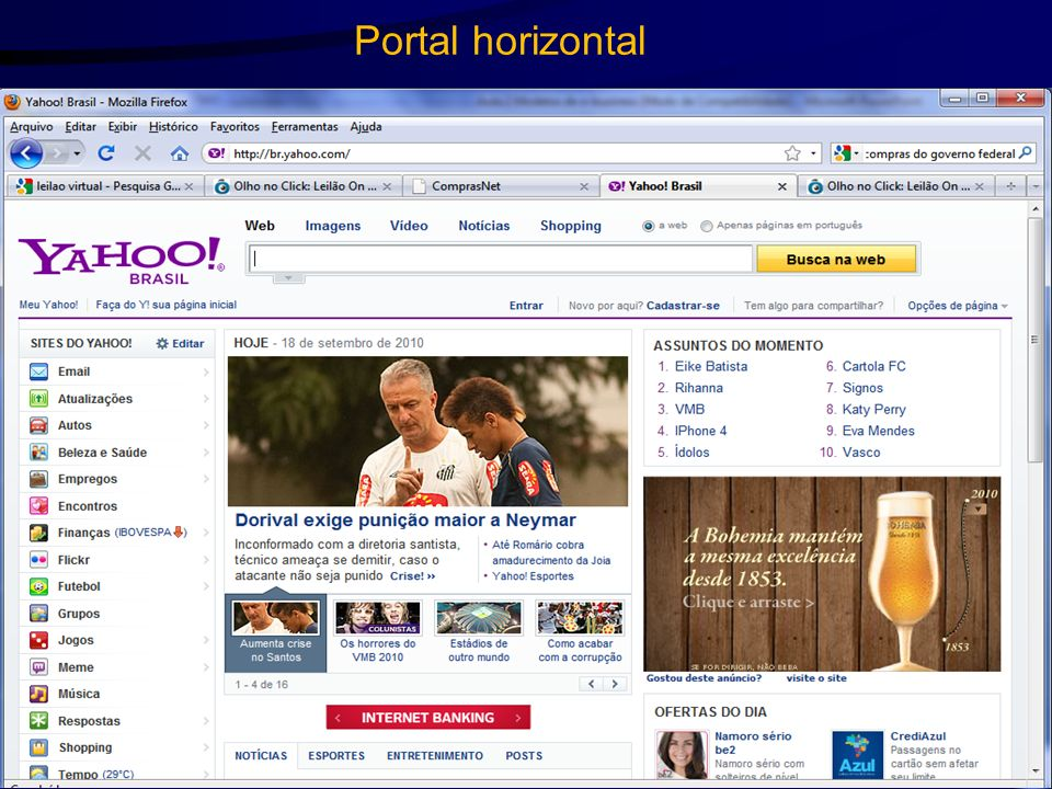 Portal horizontal