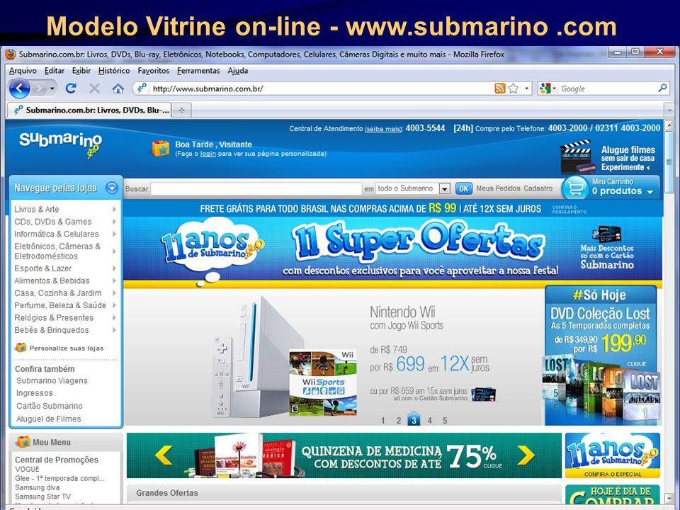 Modelo Vitrine on-line - www.submarino .com