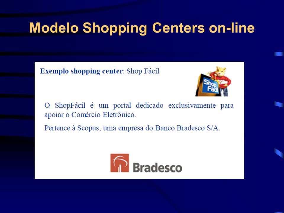 Modelo Shopping Centers on-line
