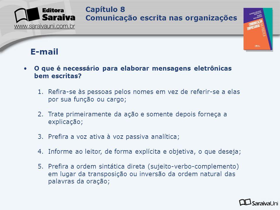 E-mail Capítulo 8 Comunicação escrita nas organizações