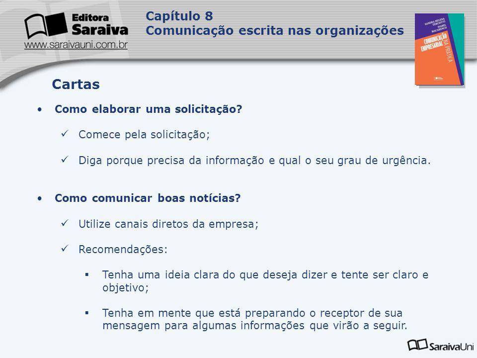 Cartas Capítulo 8 Comunicação escrita nas organizações