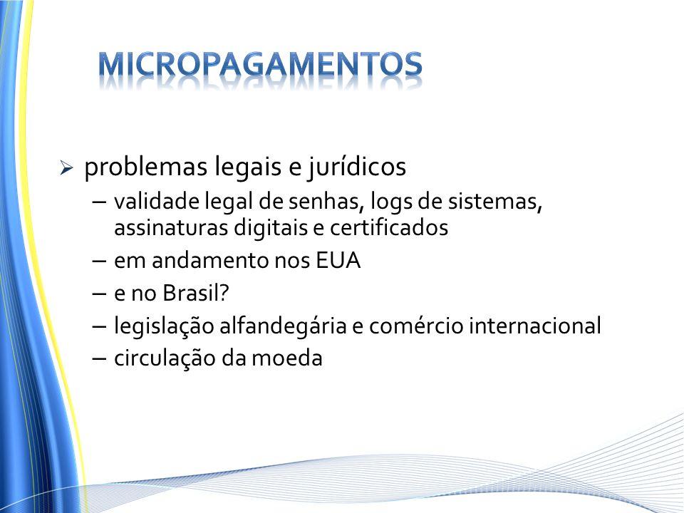 Micropagamentos problemas legais e jurídicos