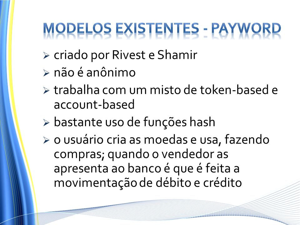 Modelos Existentes - PayWord