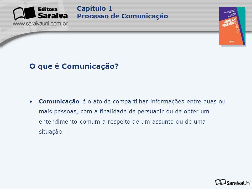 O que é Comunicação Capítulo 1 Processo de Comunicação