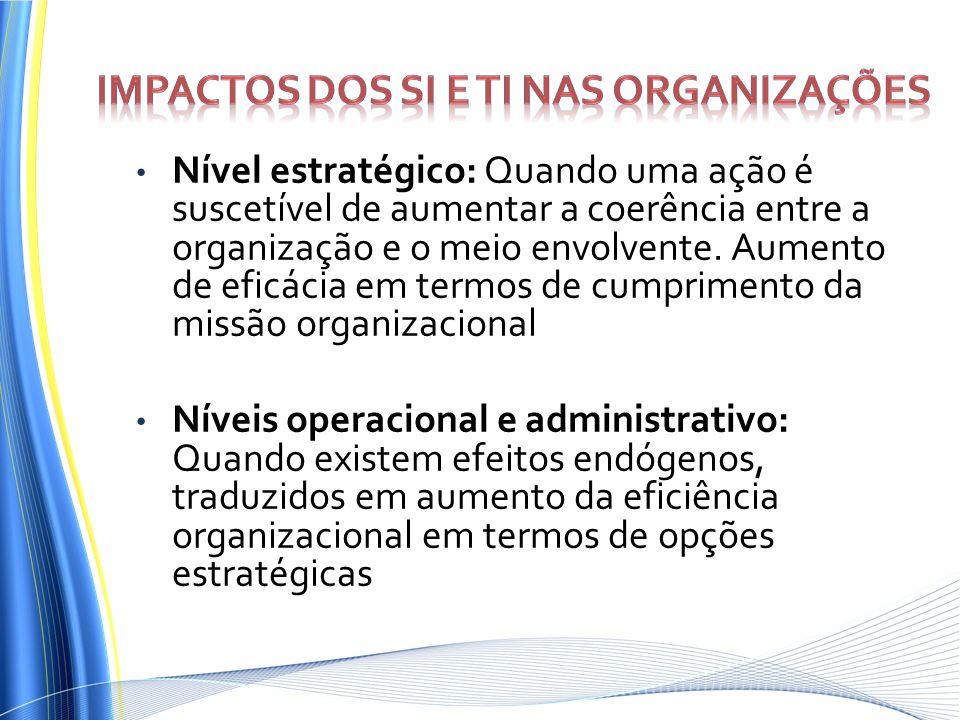 Impactos dos SI e TI nas organizações