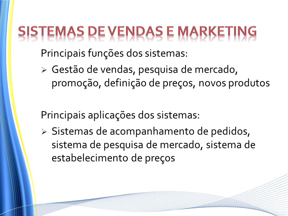Sistemas de vendas e marketing