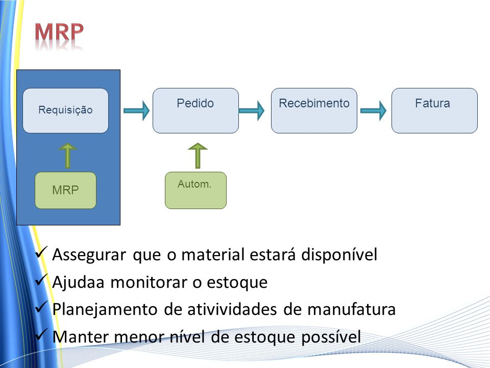 MRP Assegurar que o material estará disponível