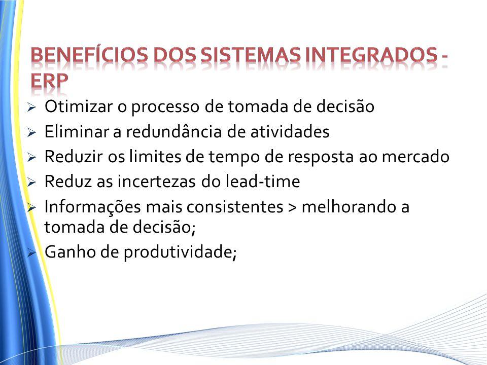 Benefícios dos sistemas integrados - ERP