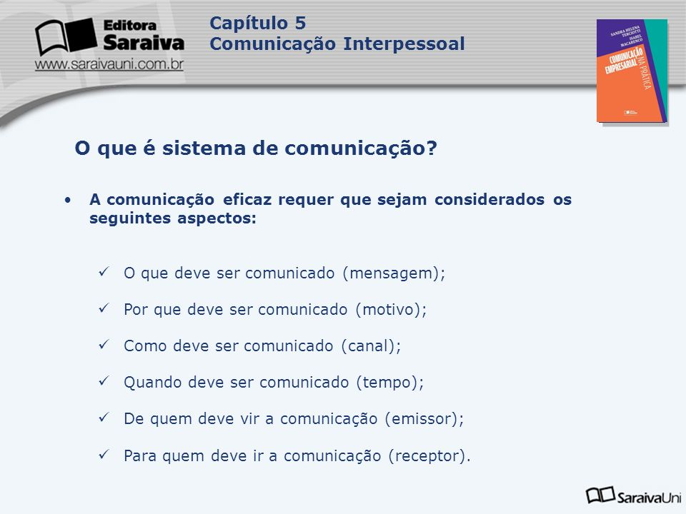 O que é sistema de comunicação