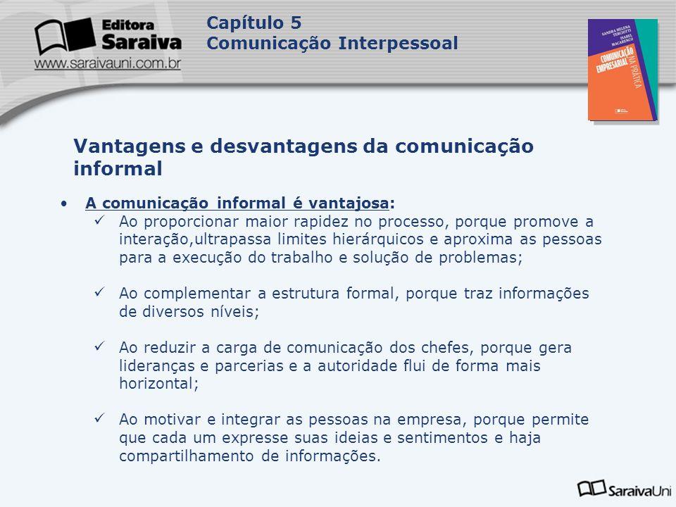 Vantagens e desvantagens da comunicação informal