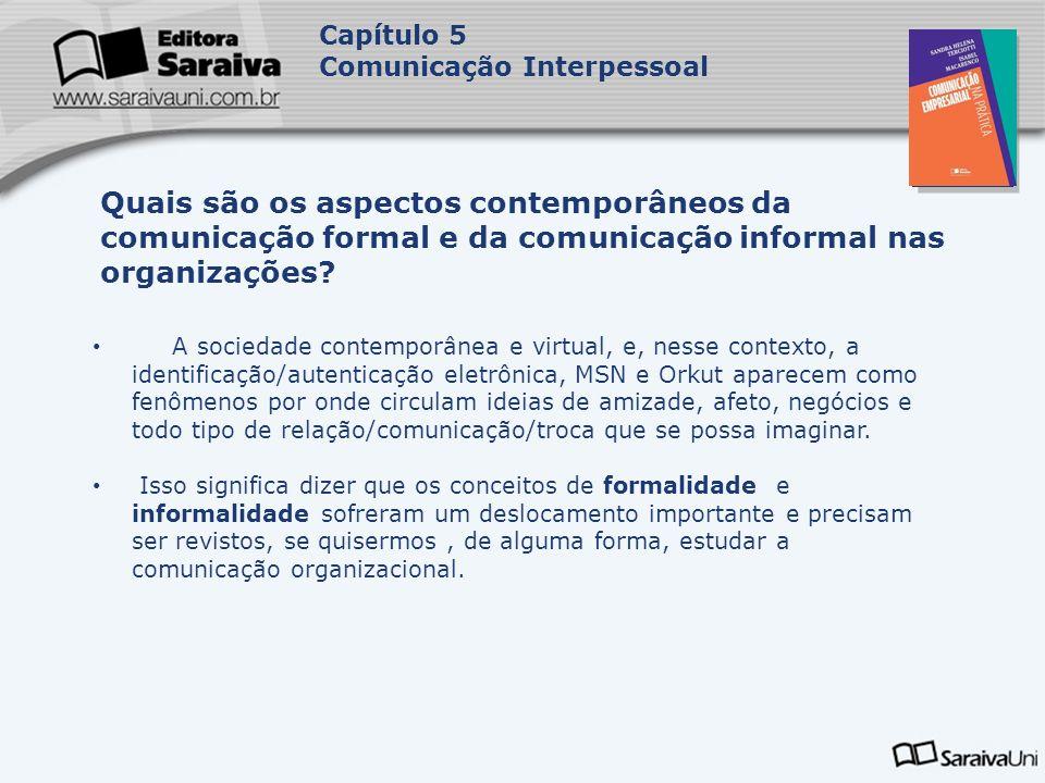 Capítulo 5 Comunicação Interpessoal. Capa. da Obra.