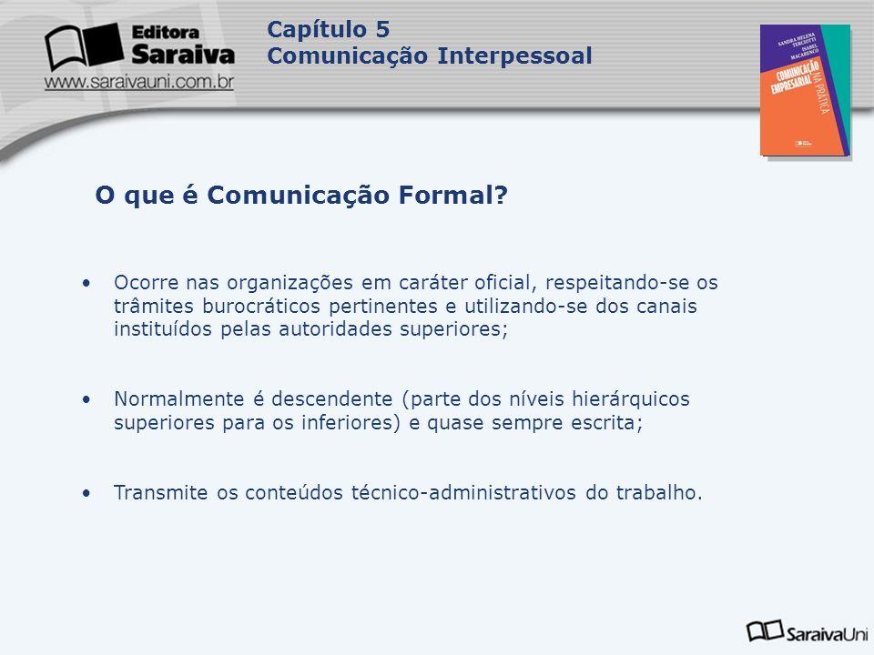 O que é Comunicação Formal