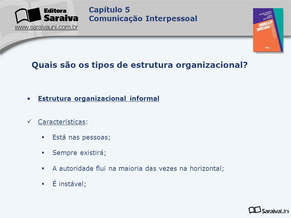 Quais são os tipos de estrutura organizacional