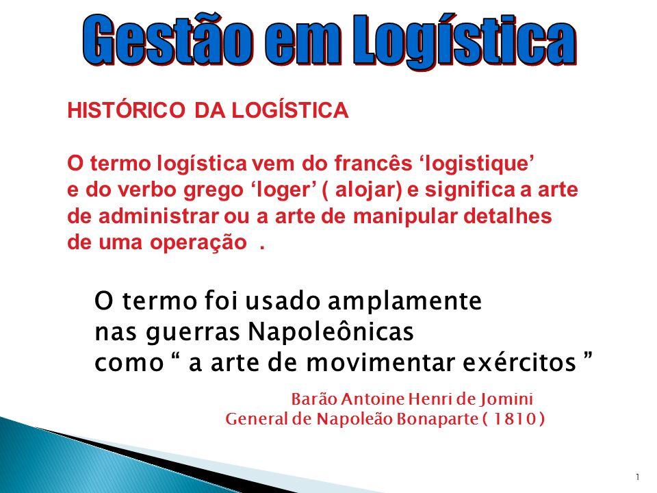 Gestão em Logística O termo foi usado amplamente