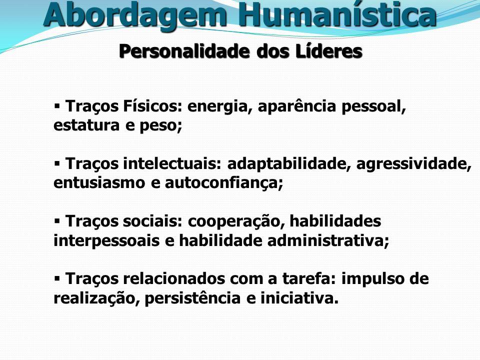 Abordagem Humanística Personalidade dos Líderes