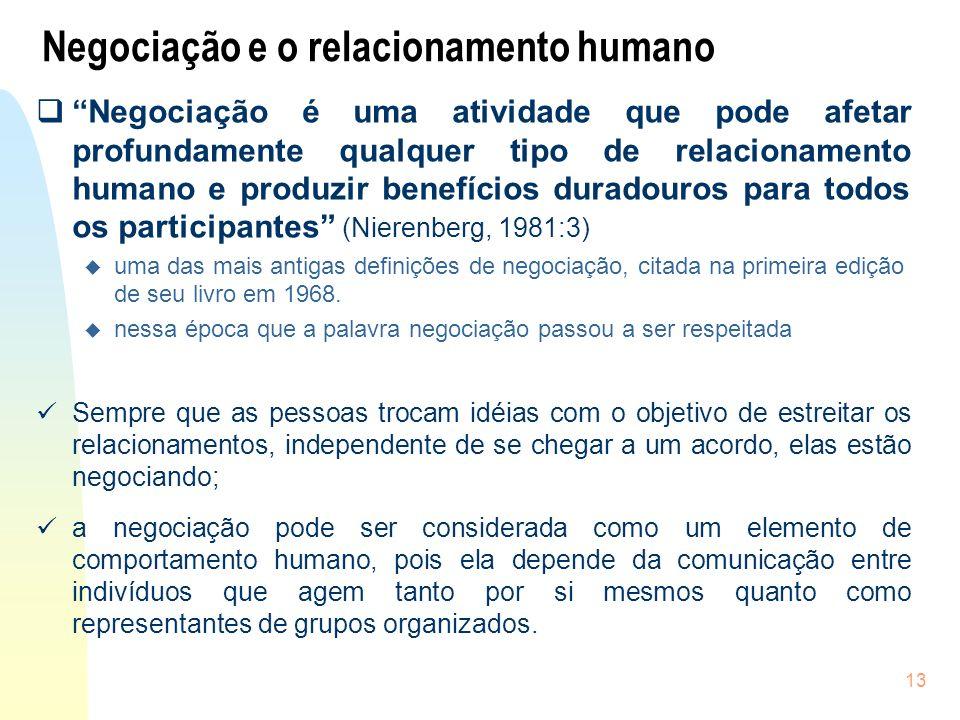 Negociação e o relacionamento humano