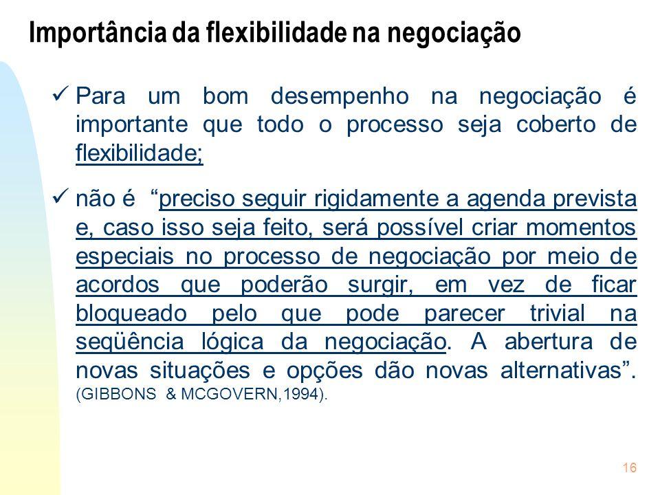 Importância da flexibilidade na negociação