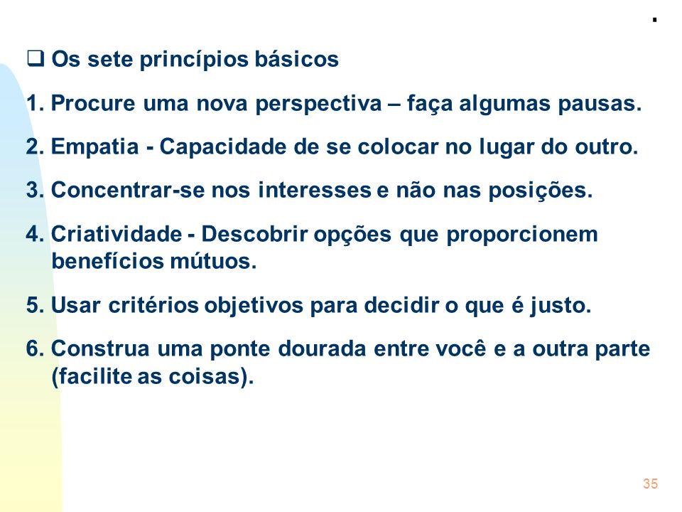 . Os sete princípios básicos