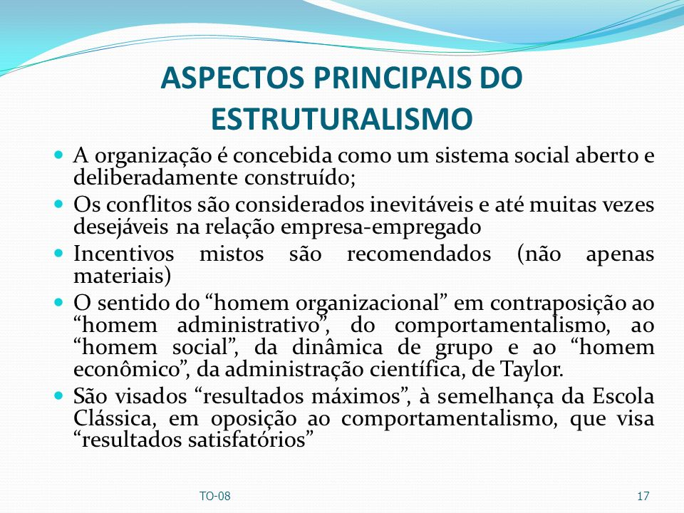 ASPECTOS PRINCIPAIS DO ESTRUTURALISMO