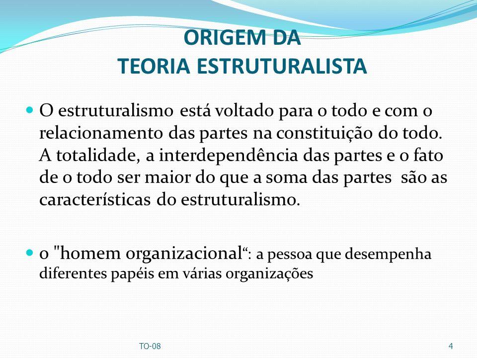 ORIGEM DA TEORIA ESTRUTURALISTA