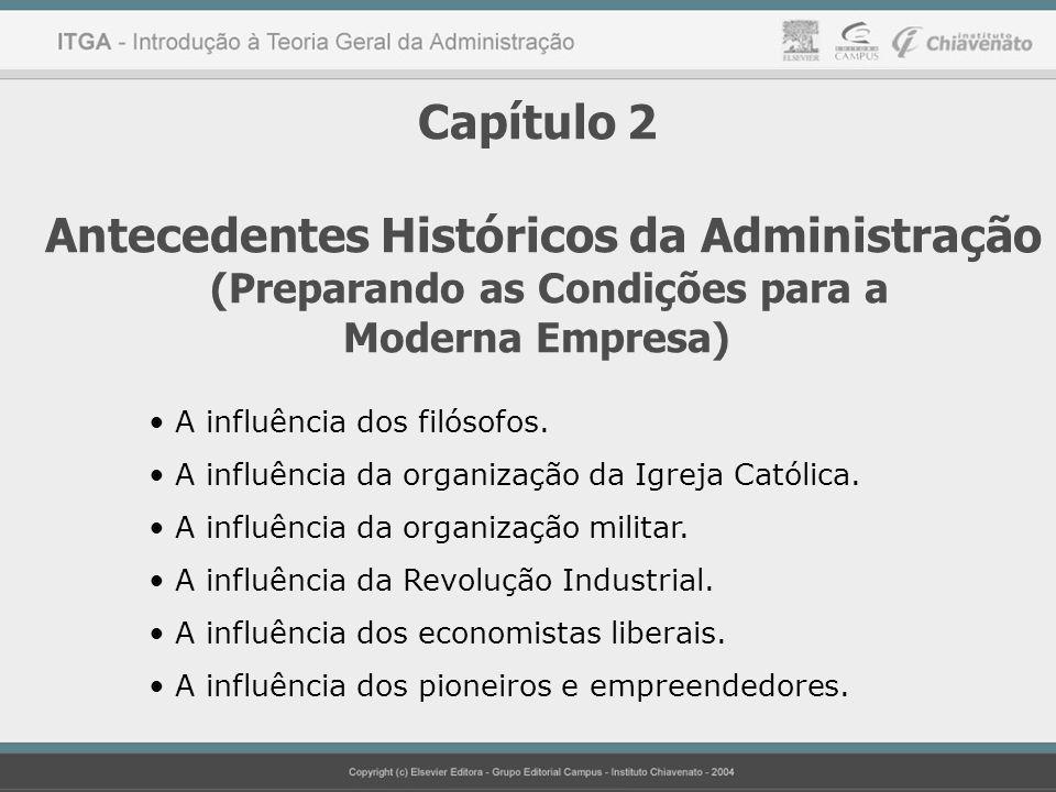 Capítulo 2 Antecedentes Históricos da Administração