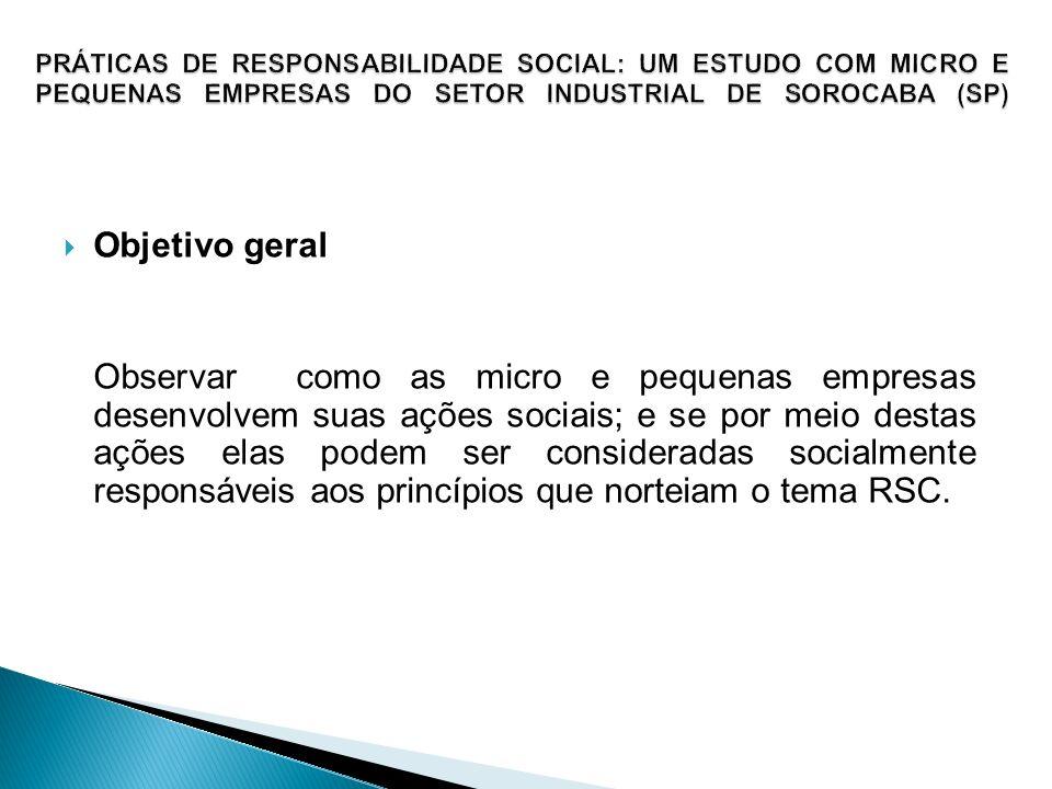 PRÁTICAS DE RESPONSABILIDADE SOCIAL: UM ESTUDO COM MICRO E PEQUENAS EMPRESAS DO SETOR INDUSTRIAL DE SOROCABA (SP)