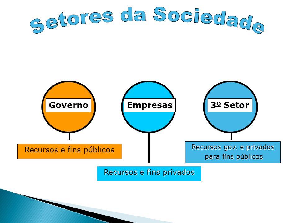 Setores da Sociedade Governo Empresas 3O Setor