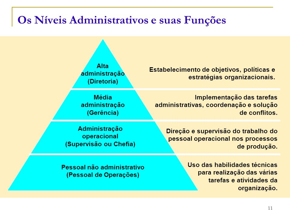 Os Níveis Administrativos e suas Funções