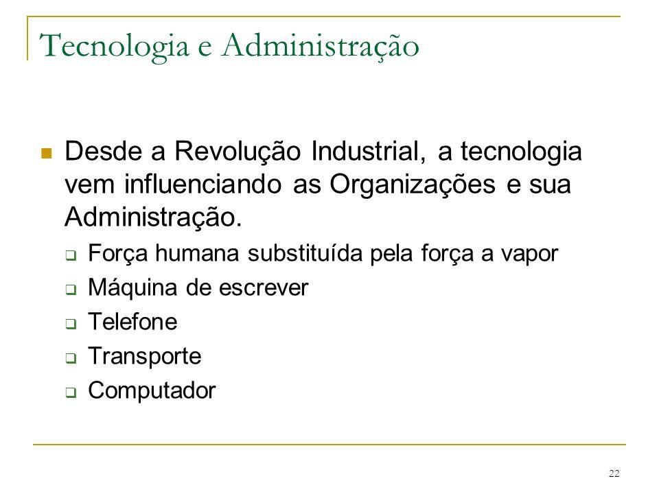 Tecnologia e Administração