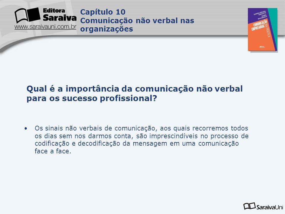 Capítulo 10 Comunicação não verbal nas organizações. Capa. da Obra. Qual é a importância da comunicação não verbal para os sucesso profissional