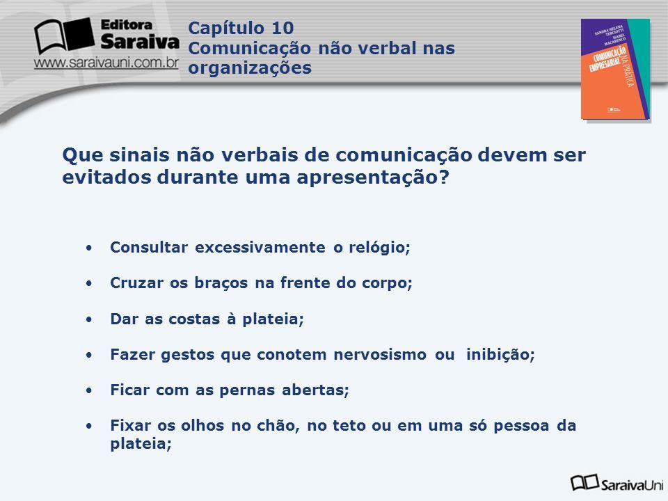 Capítulo 10 Comunicação não verbal nas organizações. Capa. da Obra.